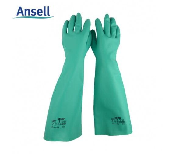 安思尔Ansell 37-185加长防化手套--广州个体防护用品