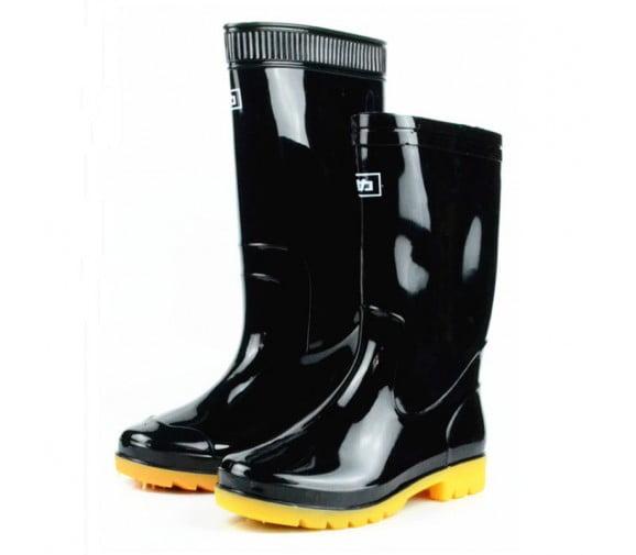 回力 807高筒黑色劳保水鞋--广州劳保雨鞋供应商