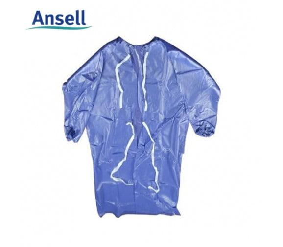 安思尔Ansell 56-910防化带袖围裙--广州劳保工作服供应商