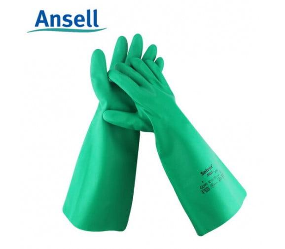 安思尔ansell 37-165丁腈橡胶防化手套 加厚款