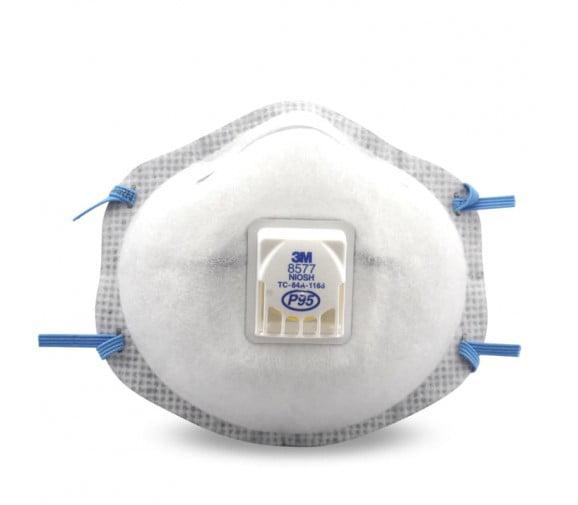 3M 8577CN P95 带呼吸阀活性炭防尘口罩