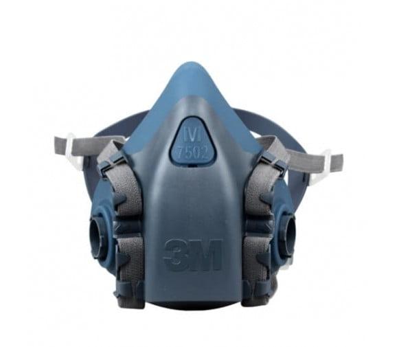 3M 7502 硅胶半面型防护面罩--广州防毒面具供应商
