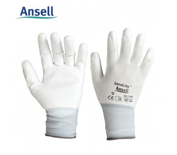 安思尔 48-100 PU涂层精细操作手套