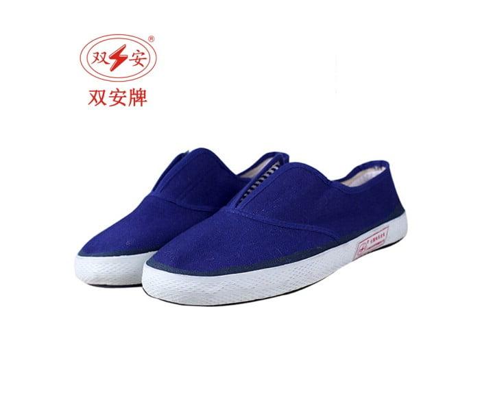 防静电蓝色布面胶鞋