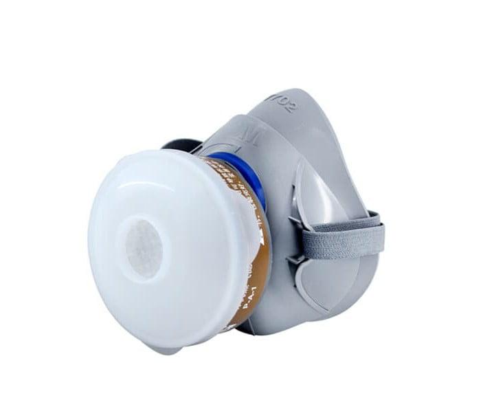 7702 硅胶单滤盒防毒半面罩