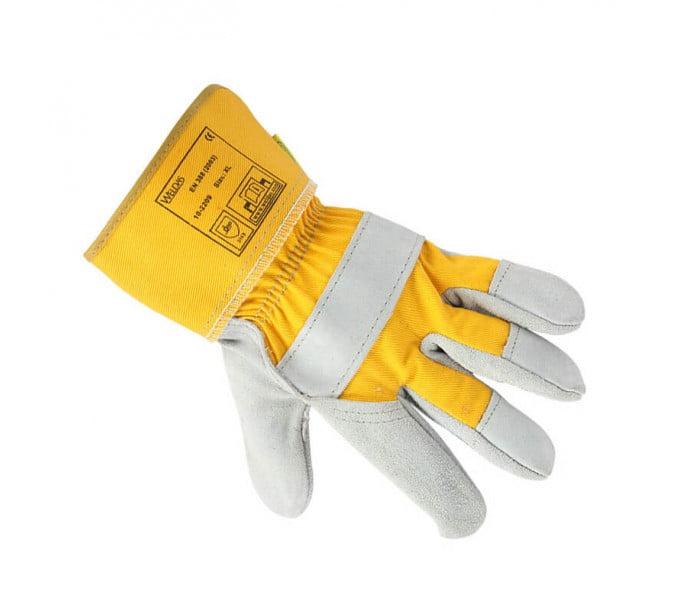 10-2209掌皮背布电焊手套