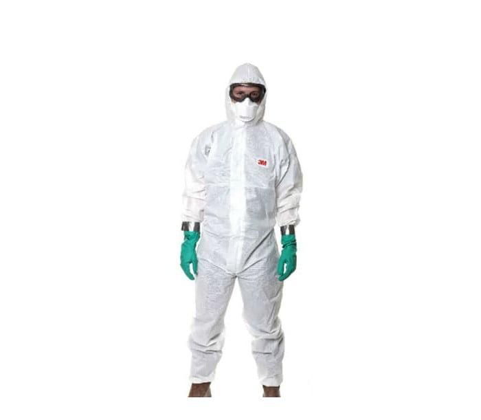 4545 白色带帽连体防护服