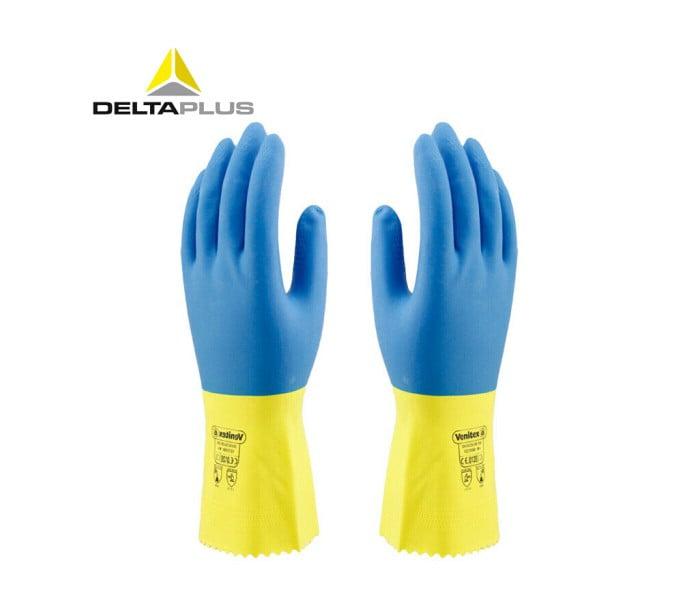 201330双色天然乳胶浸胶手套