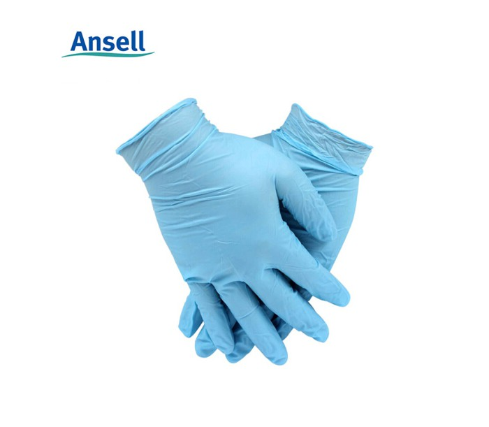 92-210 蓝色一次性无粉丁腈橡胶手套