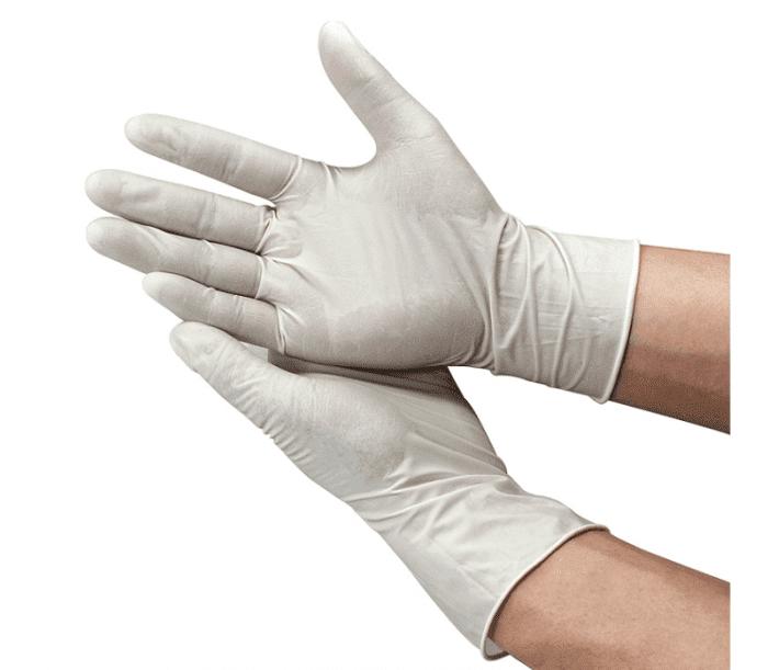 4754一次性无粉白色乳胶手套