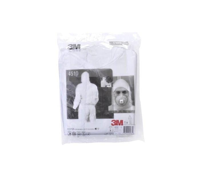 4510 白色带帽连体防护服
